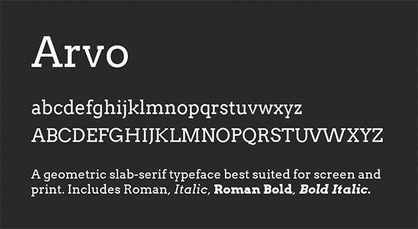 tipografias-para-web-arvo