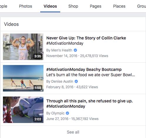 Hashtags en Facebook videos
