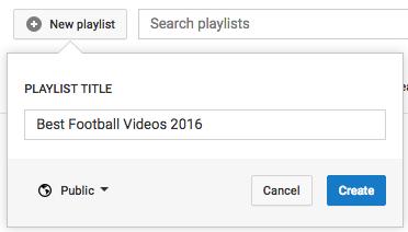 como crear listas de youtube