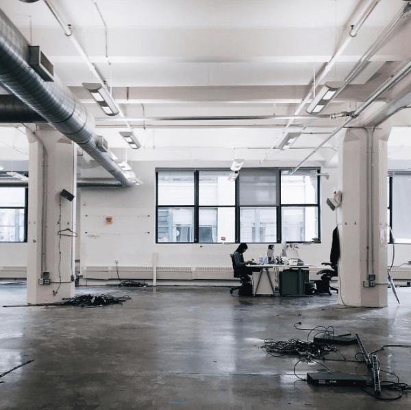 Ejemplo de la agencia creativa Huge: oficinas