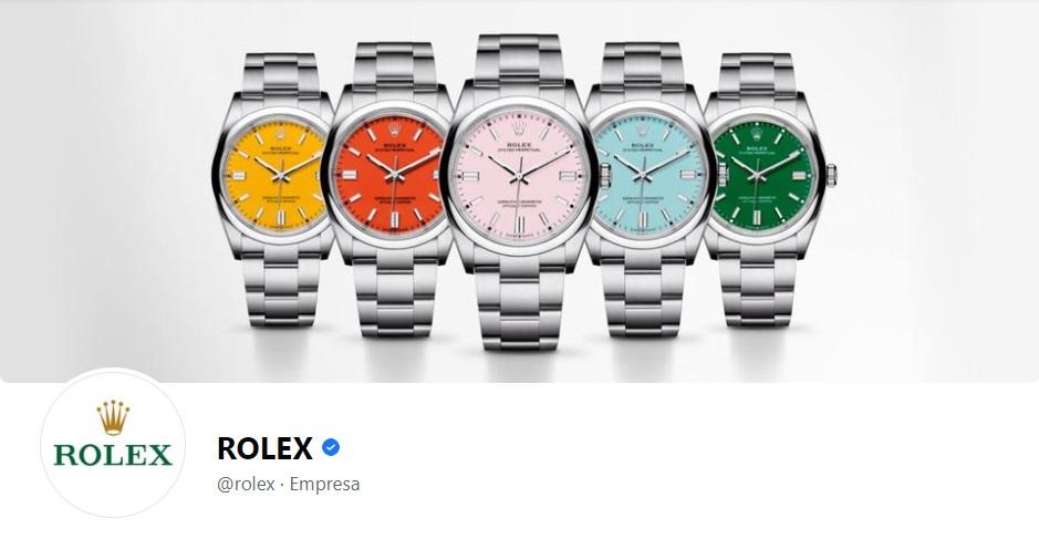 Portada de Facebook de la marca Rolex