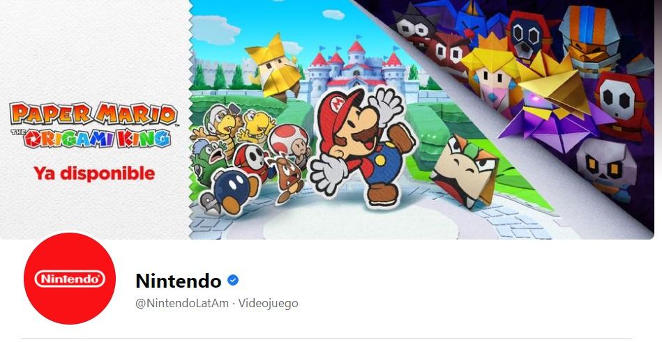 Portada de Facebook de la marca Nintendo