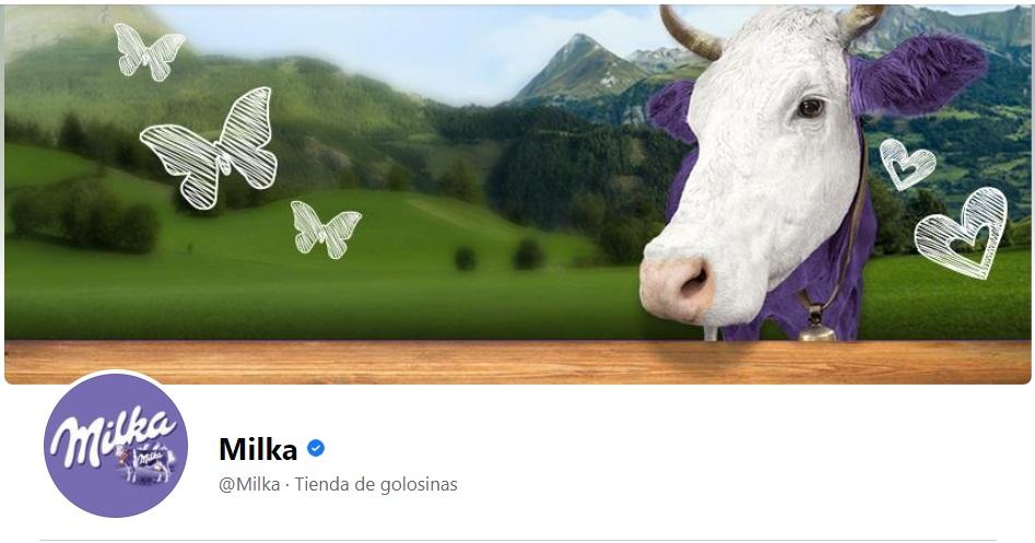 Portada de Facebook original de la marca Milka