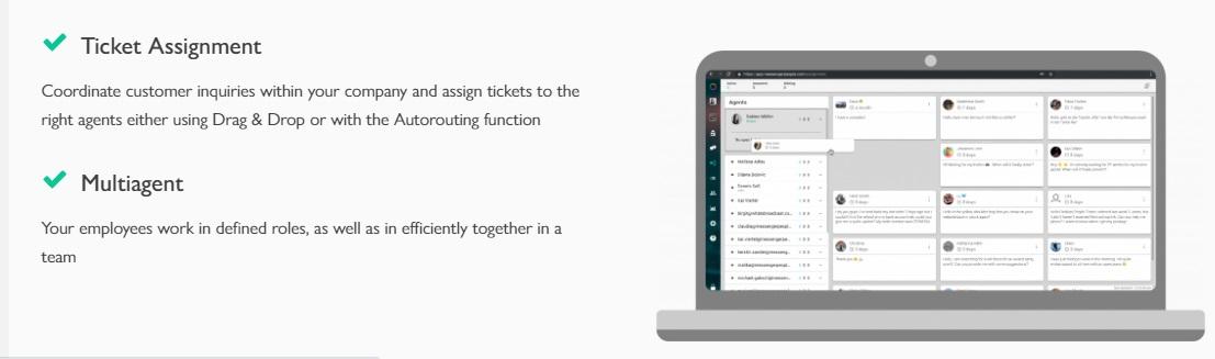 Ejemplo de software de comunicación con clientes: MessengerPeople