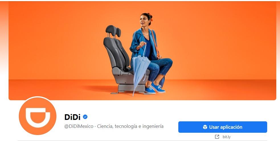 Anuncios en portadas de Facebook: ejemplo de DiDi
