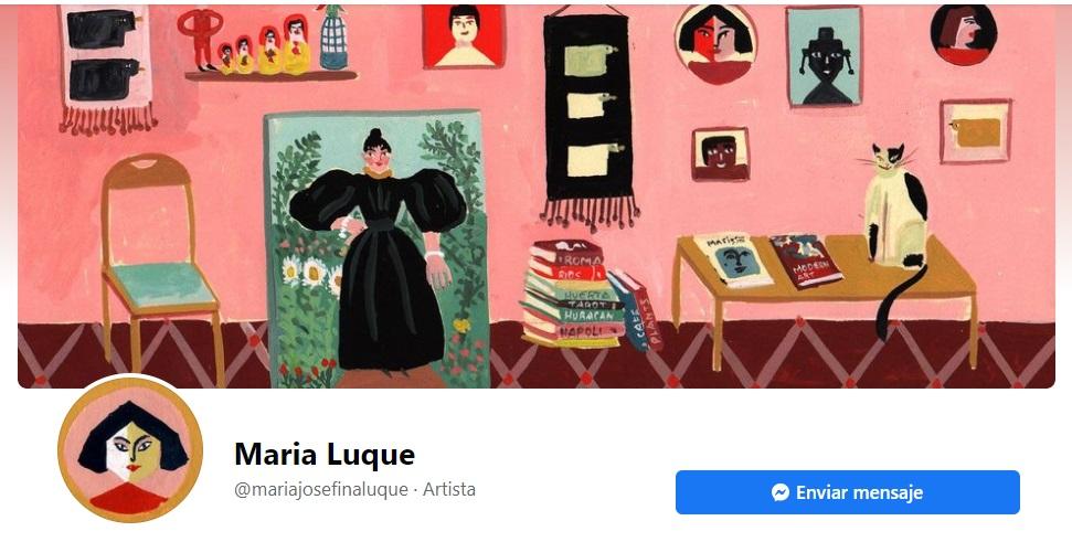 Portada de Facebook de la marca María Luque