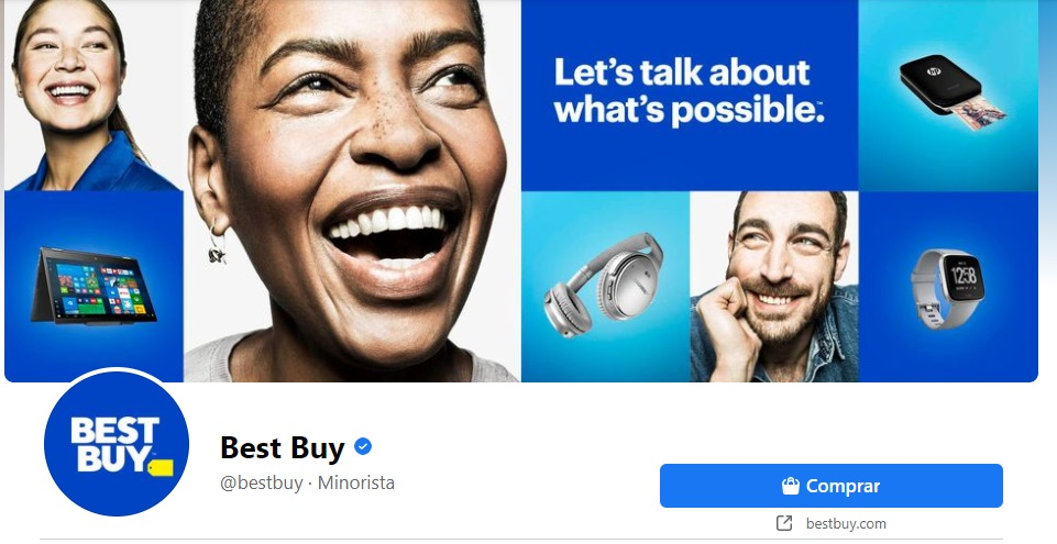 Collage en portada de Facebook creativa de Best Buy