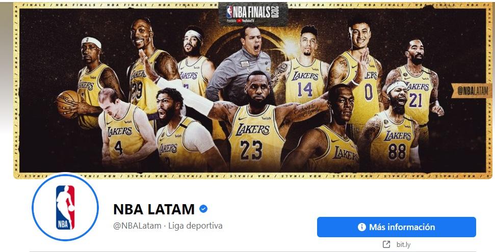 Portadas de Facebook vintage de NBA Latam