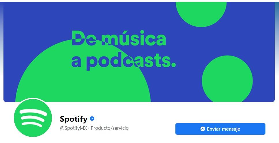 Portadas para Facebook originales con colores y frases de Spotify
