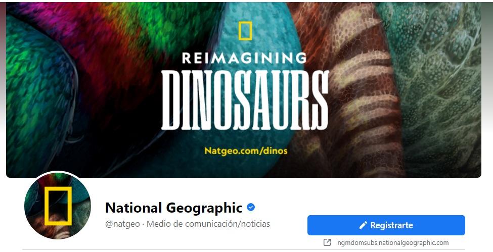Portada de Facebook para impulsar productos de National Geographic