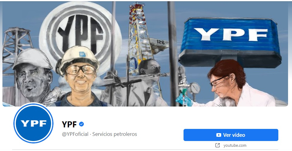 Ejemplos de portadas para Facebook originales: YPF