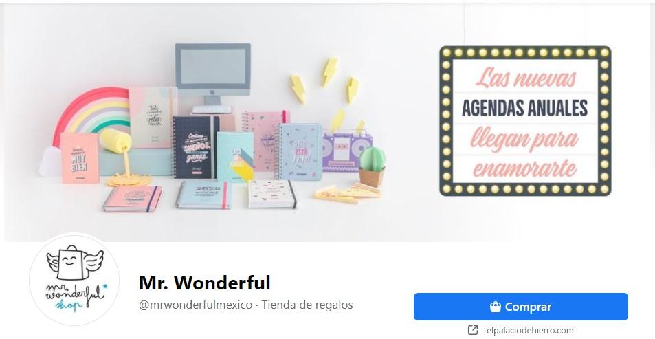 Portadas para Facebook originales y creativas: ejemplo de Mr. Wonderful