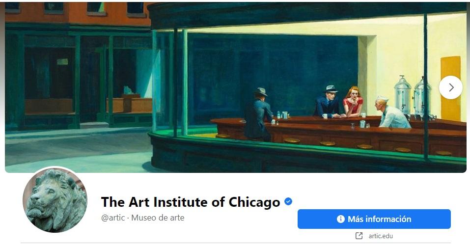 Portadas para Facebook creativas: Instituto de Arte de Chicago