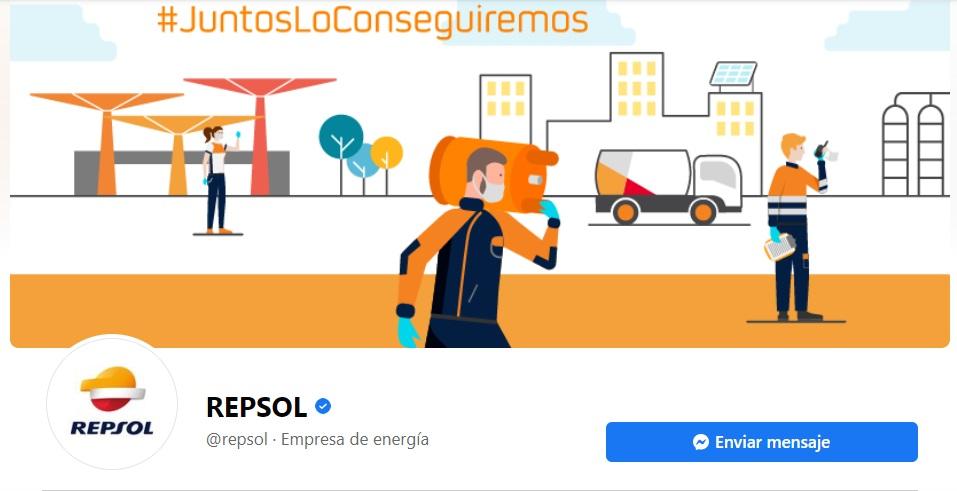 Portadas para Facebook original de Repsol
