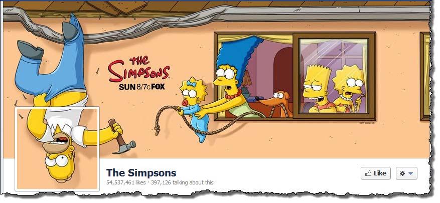 Portada de Facebook creativa de The Simpsons