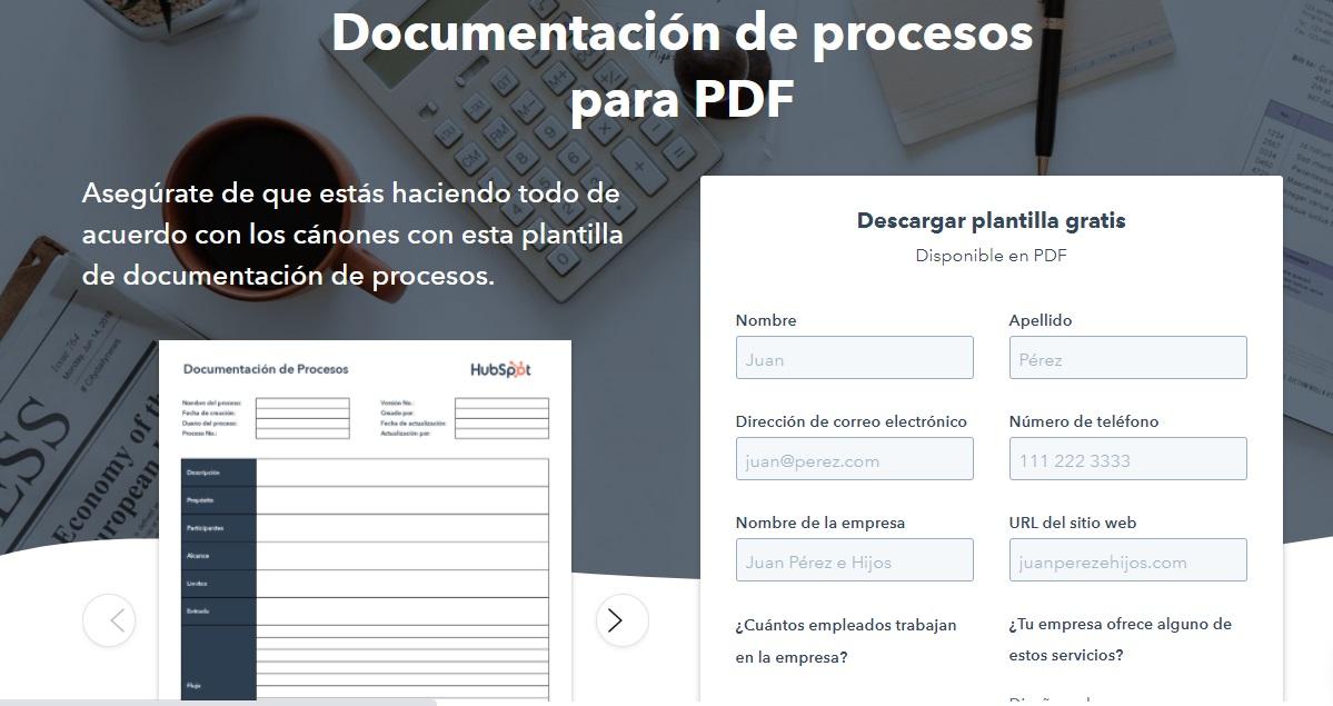 Plantilla gratuita de documentación de procesos de HubSpot