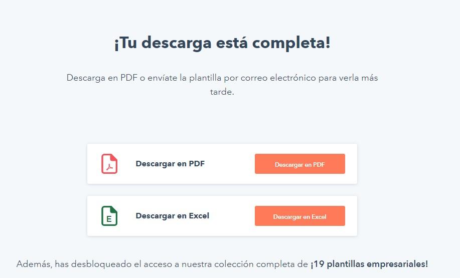 Formatos para descargar la plantilla de documentación de procesos de HubSpot