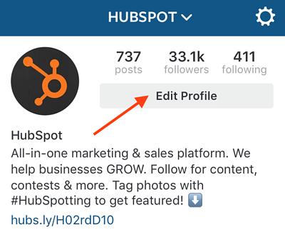 Cómo cambiar el enlace en tu biografía de Instagram: usa el botón para editar perfil