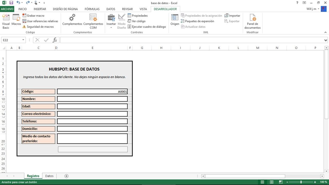 Paso a paso para hacer una base de datos en Excel