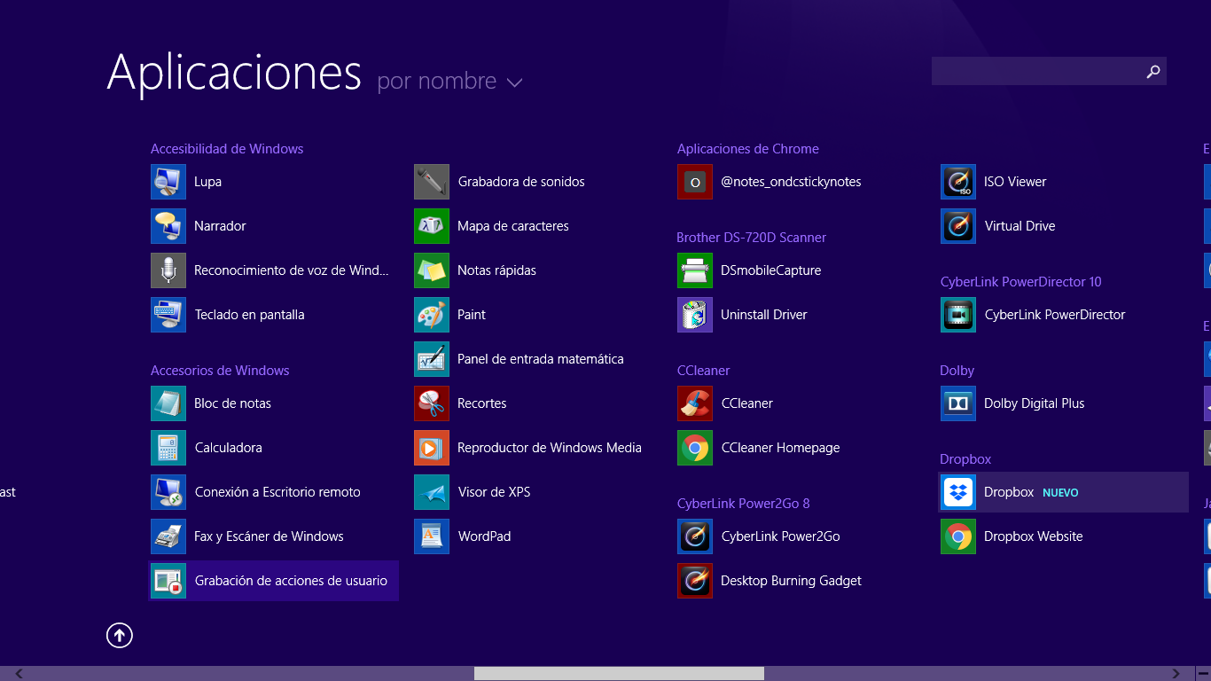 Herramienta Grabación de acciones de usuario para grabar pantalla en Windows 10