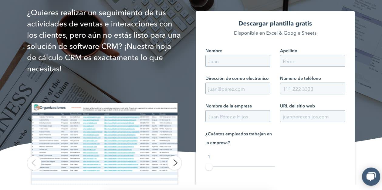 Plantilla base de datos-CRM de HubSpot
