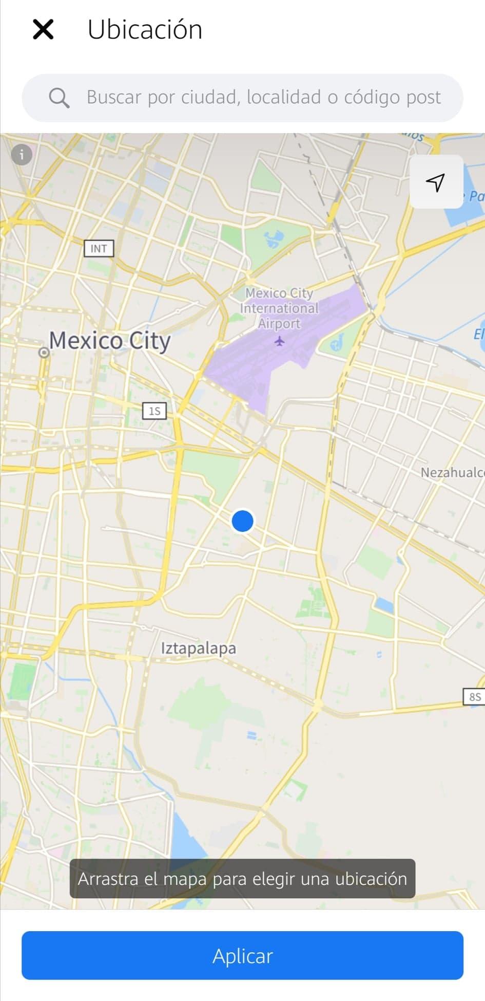 Detalles de localización para Marketplace de Facebook