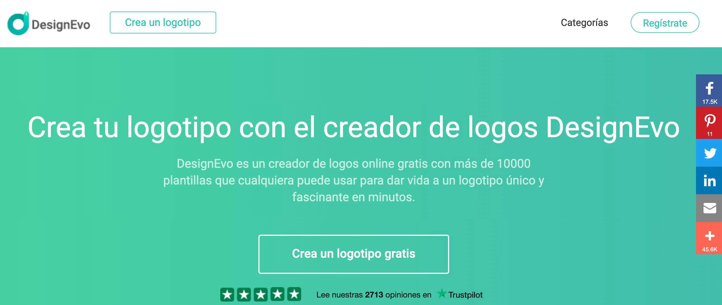 DesginEvo, creador logos gratis