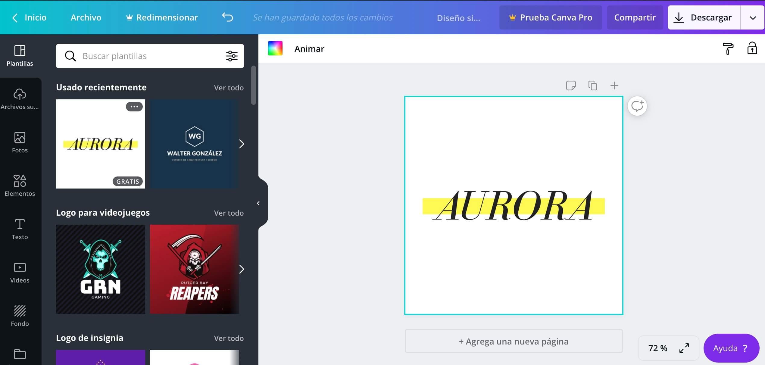 Creador de logos gratis de Canva