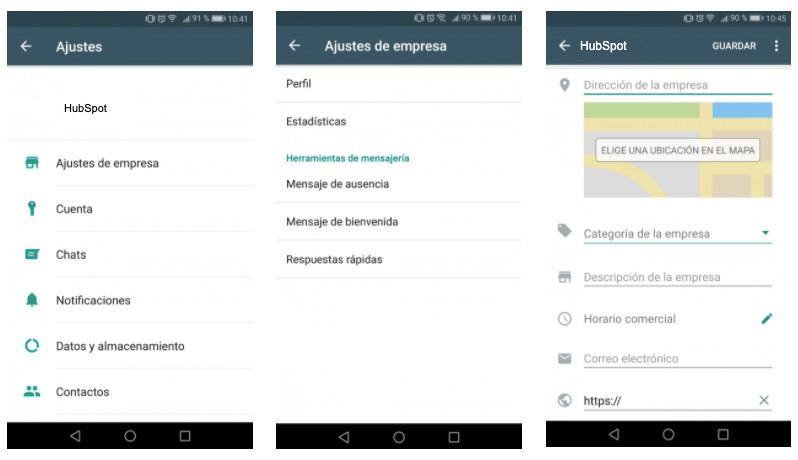 Cómo crear tu mensaje de bienvenida de WhatsApp: crea el perfil de tu empresa