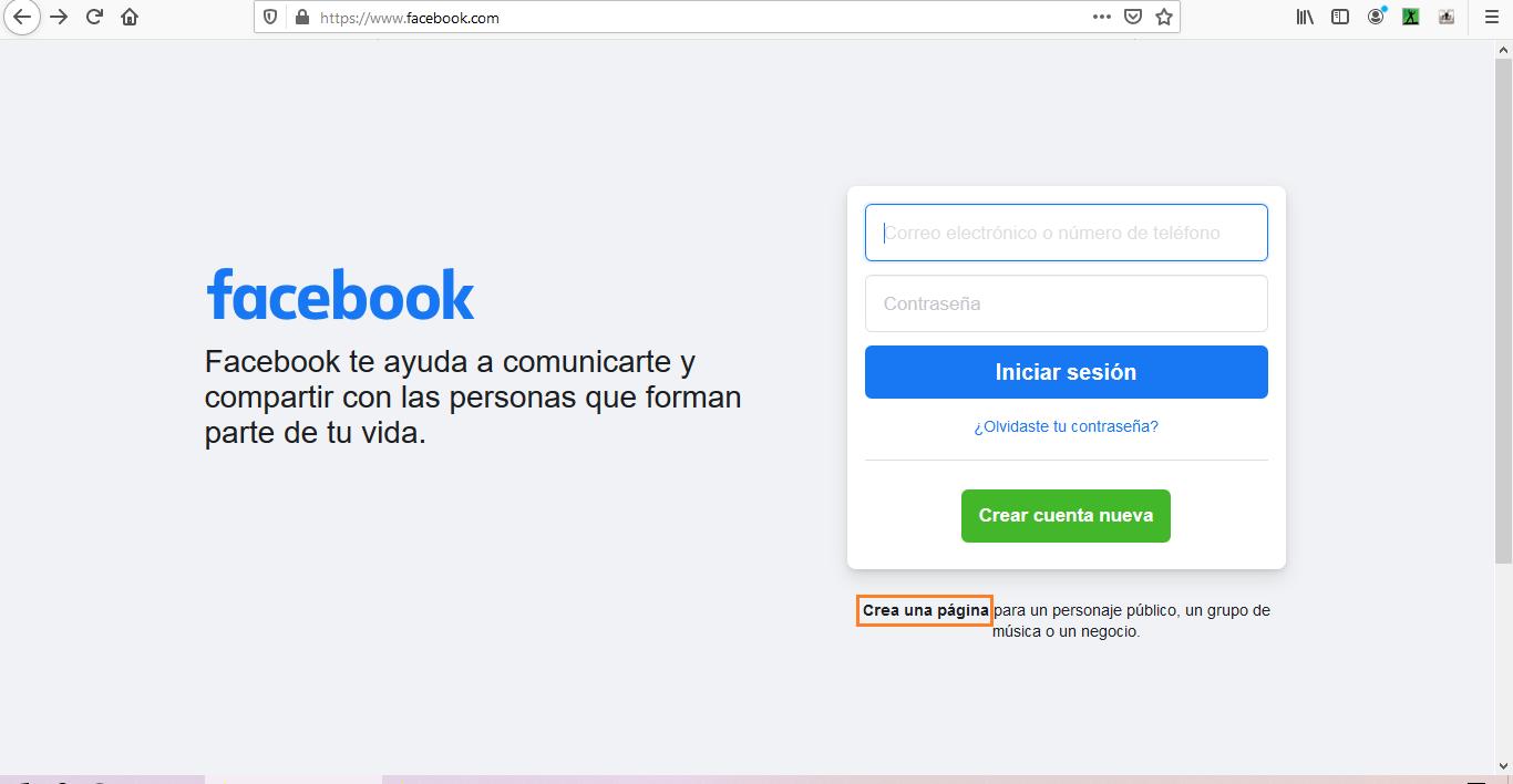 Cómo acceder al creador de páginas en Facebook