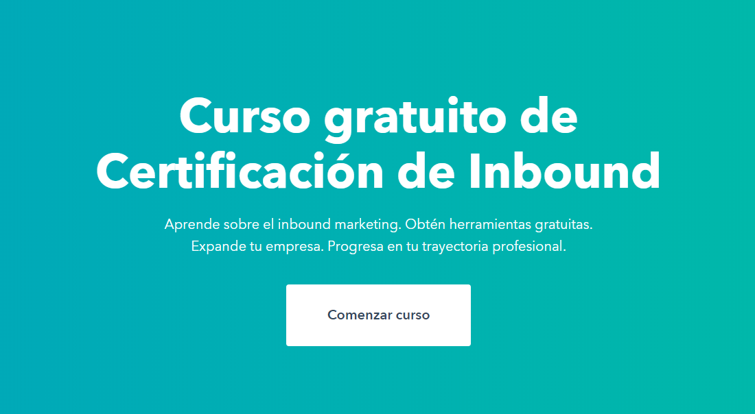 Curso gratis de Inbound Marketing de HubSpot