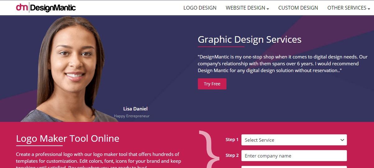 Creador de logotipos DesignMantic