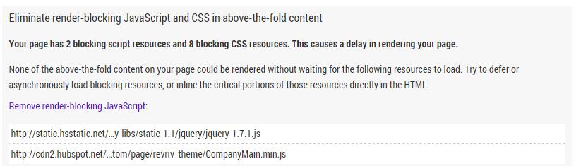 Detalles del análisis para identificar JavaScript problemático con PageSpeed Insights