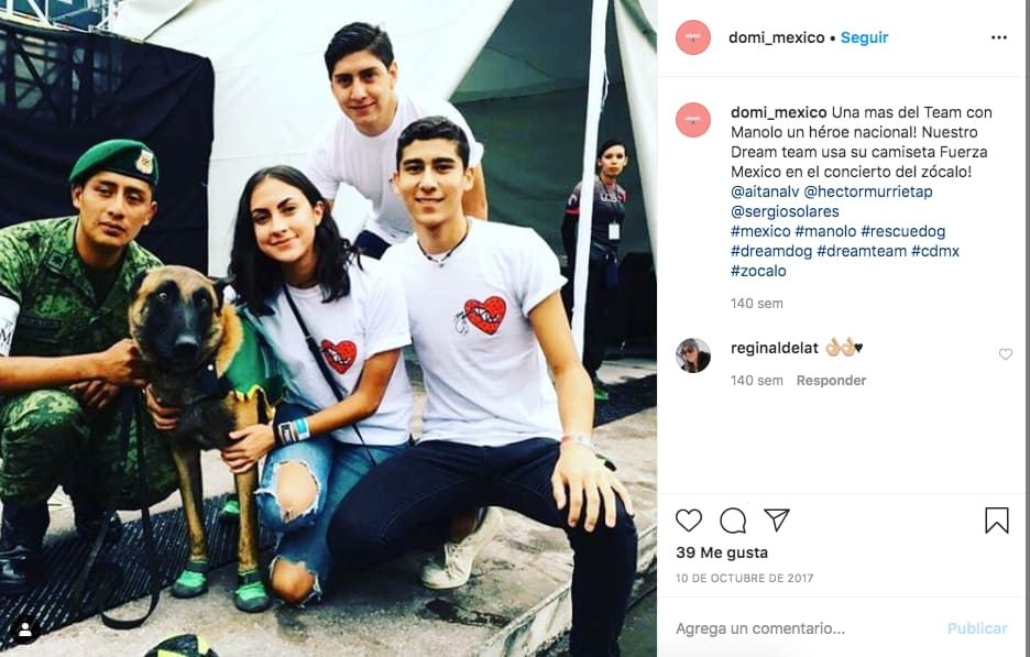Ejemplo de publicaciones de marca en Instagram de @domi_mexico