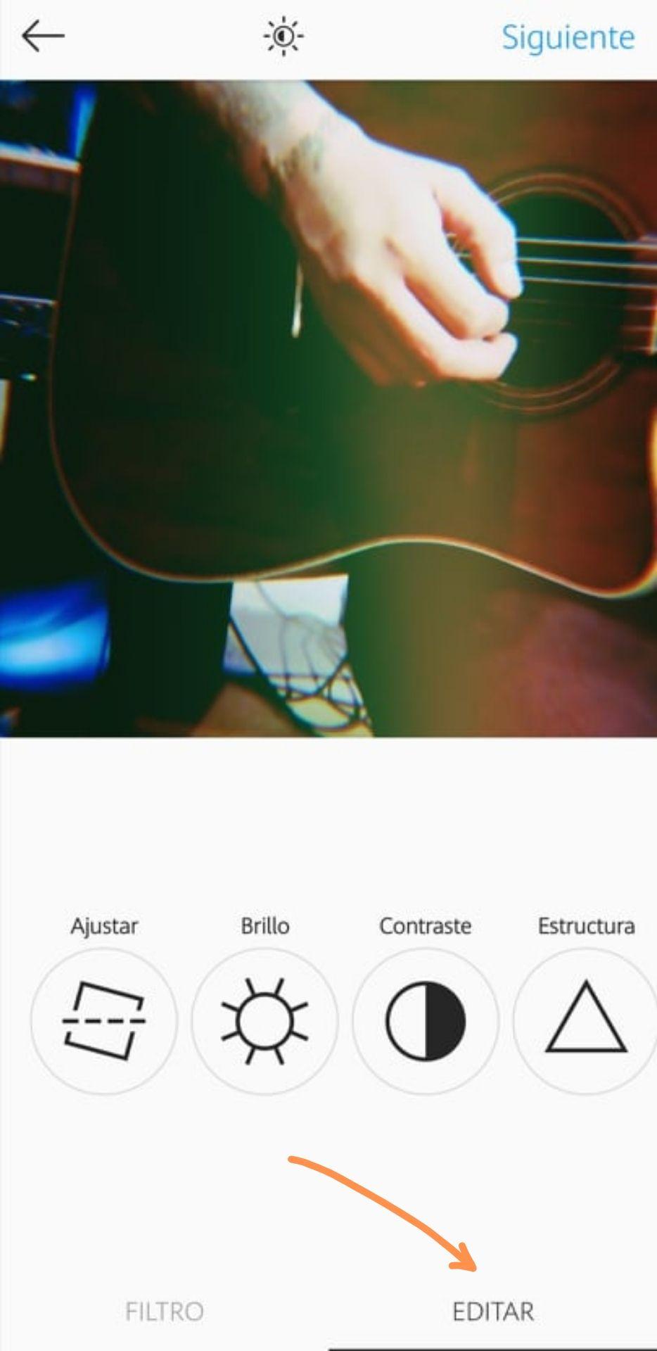 Publicar una foto mejorada para Instagram