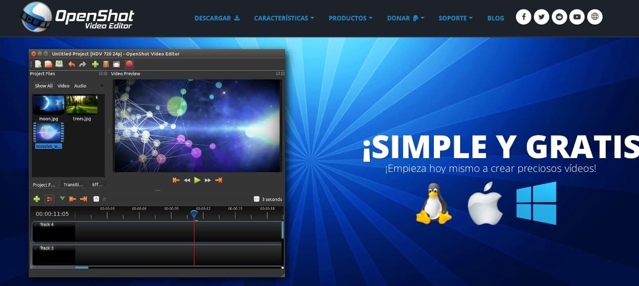 Editores de video online gratis: OpenShot