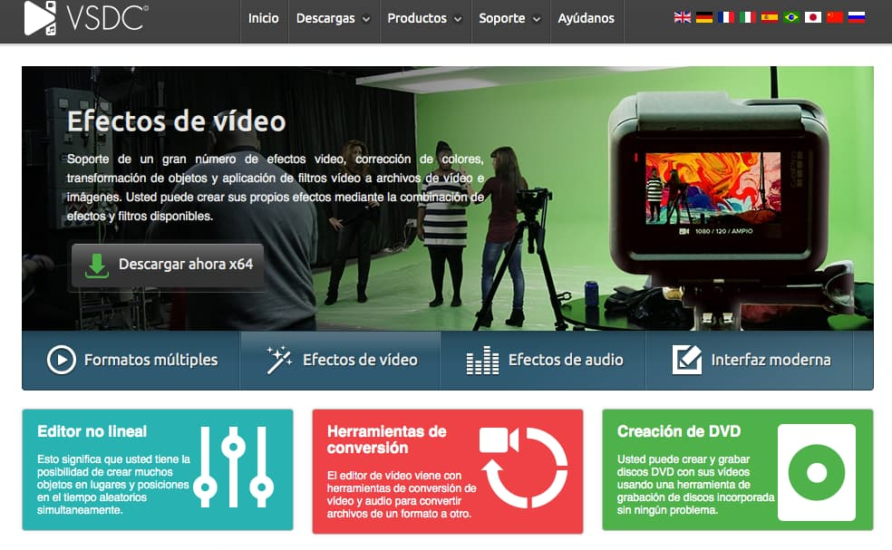 Editores de video online gratis: VSDC
