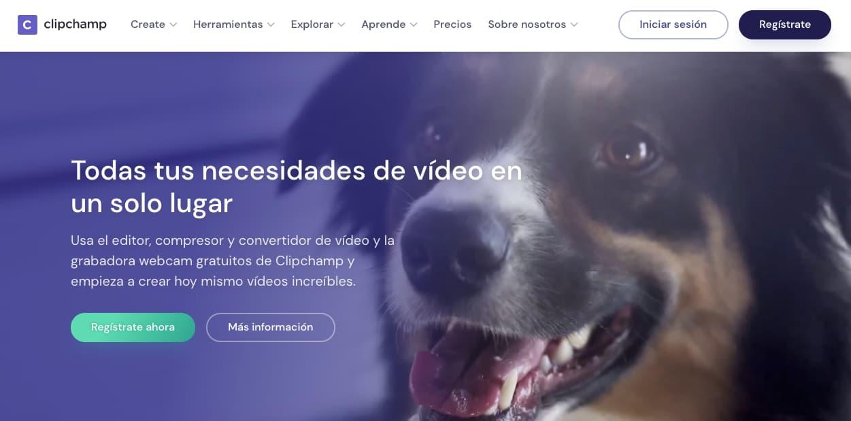 Editor de video online: Clipchamp
