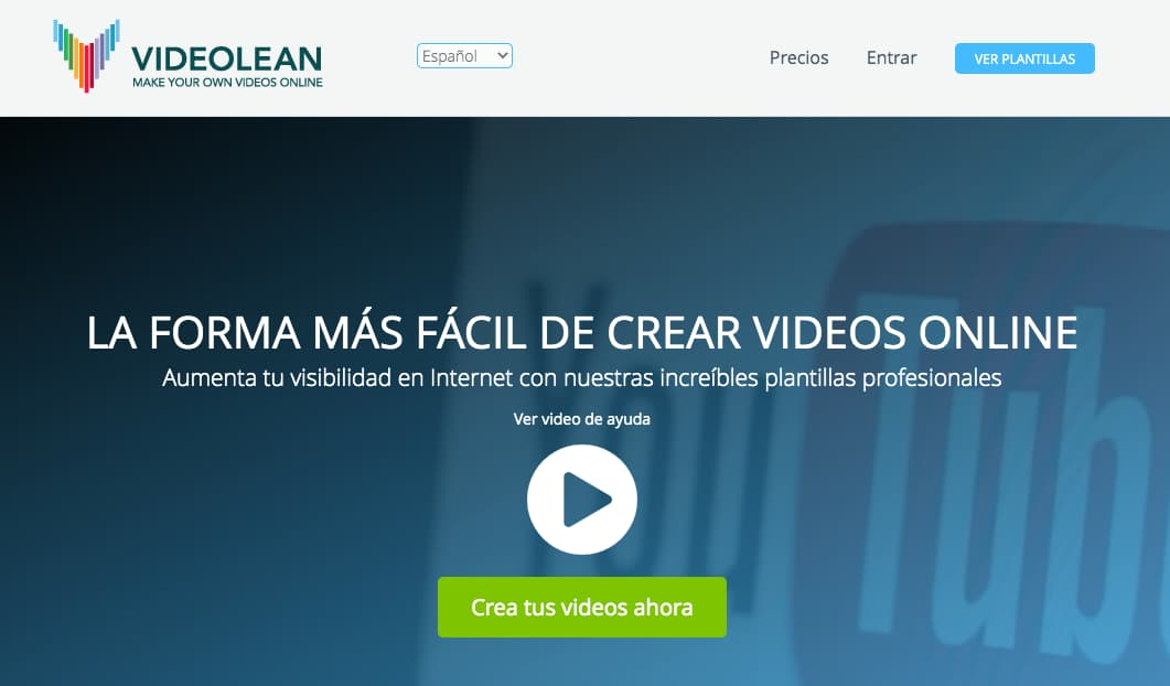 Editor de video online: Videolean