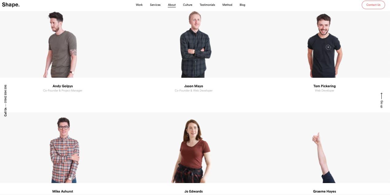 Equipo de Media By Shape, una empresa con descripción ejemplar