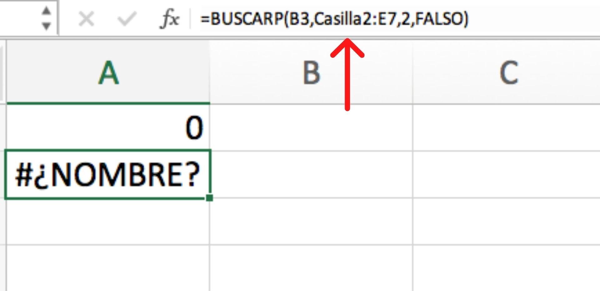 Errores más comunes de Excel: #¿NOMBRE?