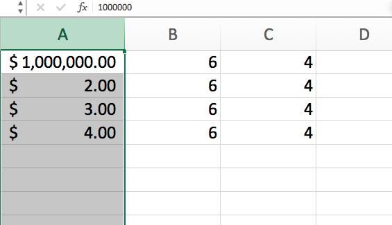 Ejemplo de error #¡NUM! en Excel
