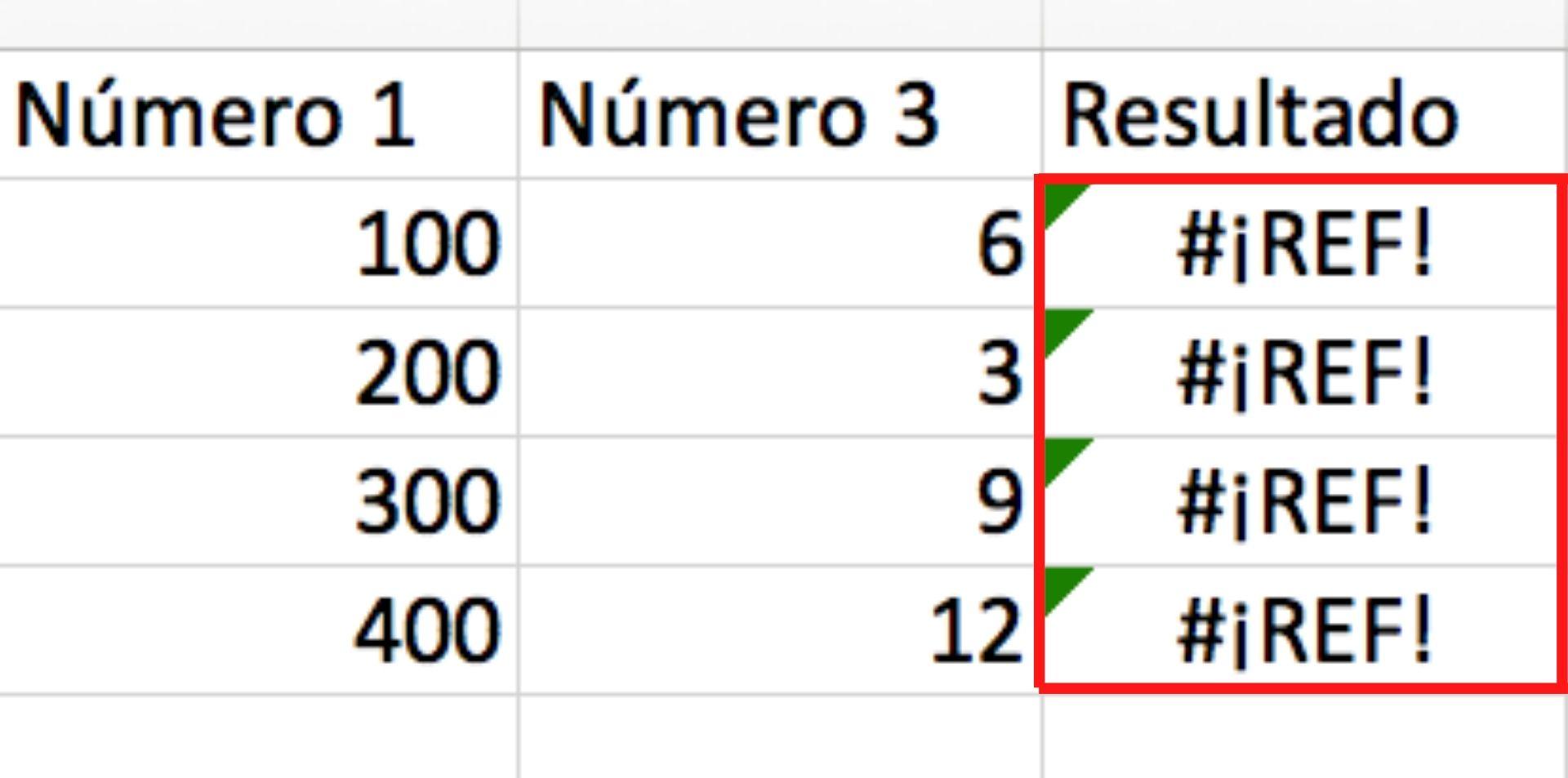 Errores más comunes de Excel: #¡REF!
