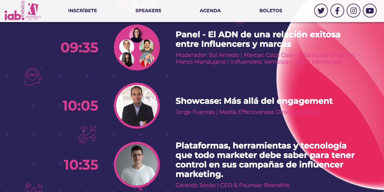 Evento virtual de IAB México