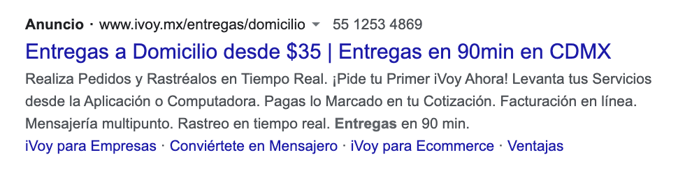 Google Ads: extensiones de oferta