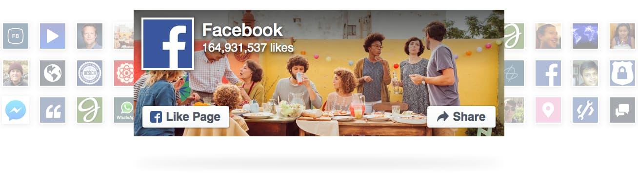 Agregar botones Plug-in de página y el botón para compartir en Facebook