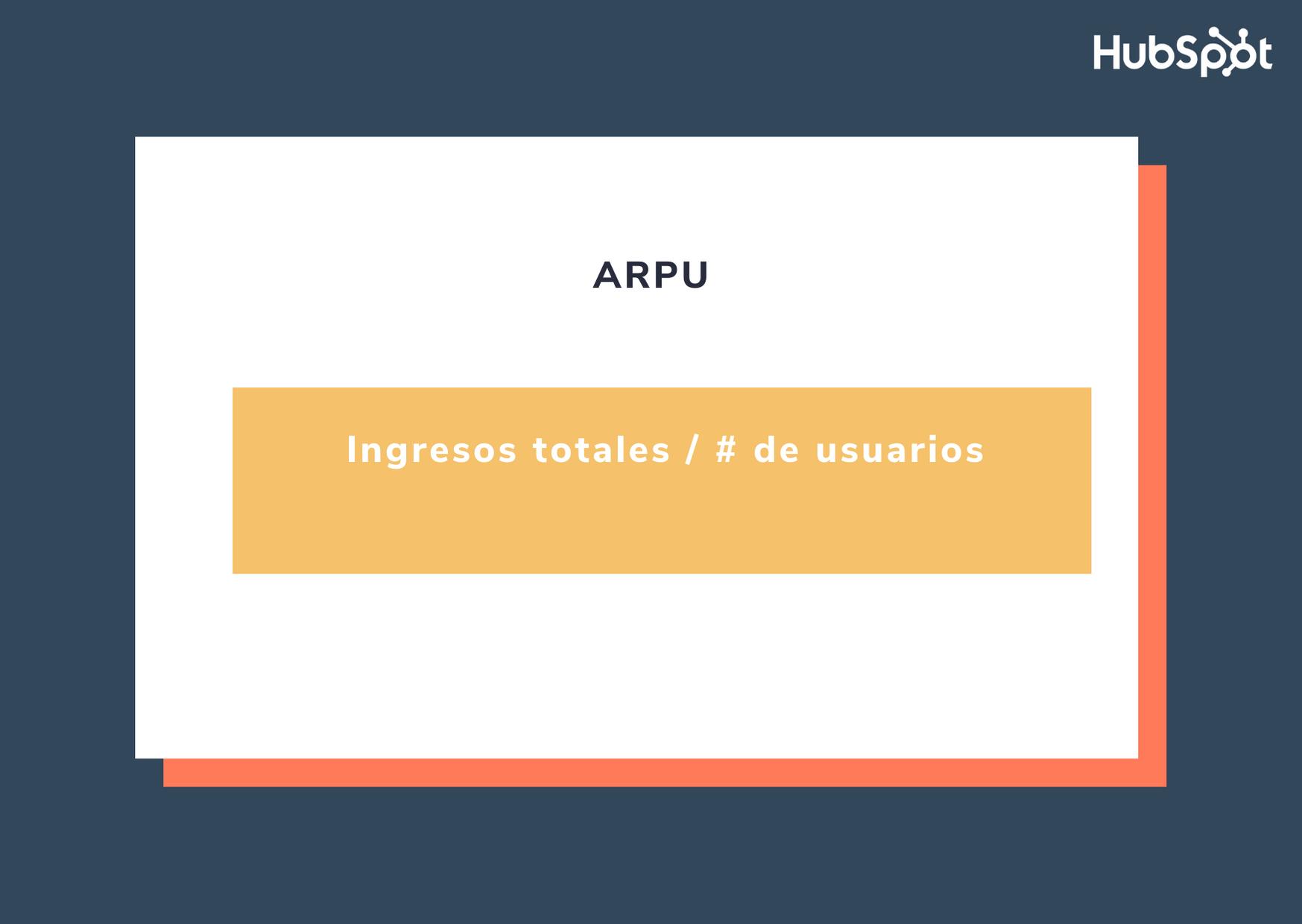 Fórmula para calcular el ARPU