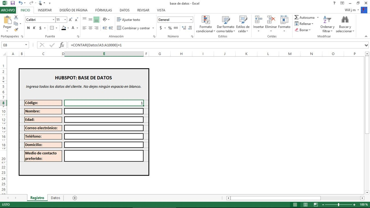Cómo hacer una base de datos en Excel: formato de celdas