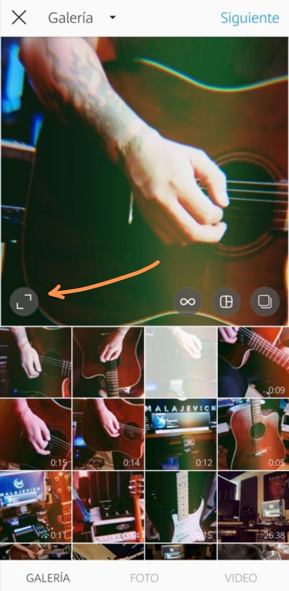 Uso de los filtros para Instagram