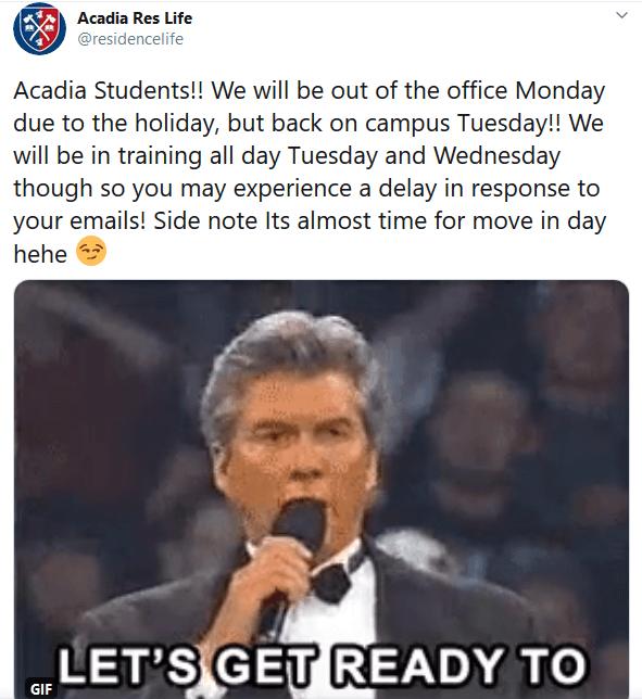 Mensaje de fuera de la oficina por día festivo